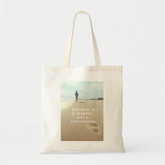 Success is a Journey Inspirational Quote Tote Bag