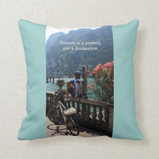 Success Is a Journey Throw Pillows