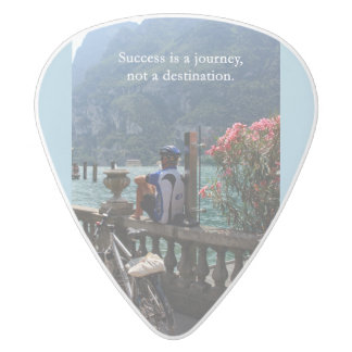 Success is a Journey White Delrin Guitar Pick