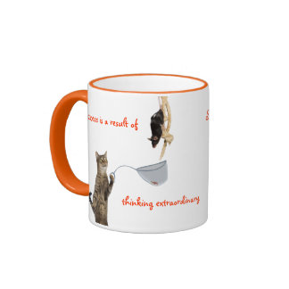 Success is a result of thinking extraordinary. ringer coffee mug