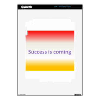success is coming iPad 2 skin