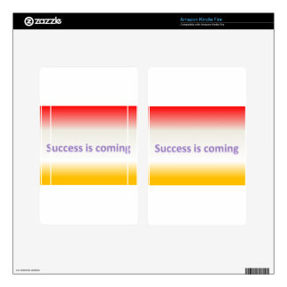 success is coming kindle fire decal