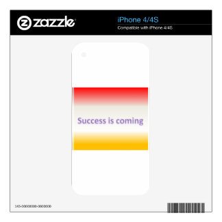 success is coming skin for iPhone 4S