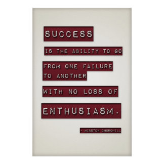 Success is... (Large Template Editable) Print