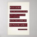 Success is... (Large Template Editable) Print