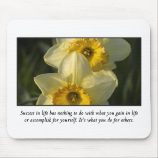 Success is measured by what you do for others mouse pad
