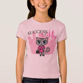 Success is Mine Inspirational Cat T-shirt