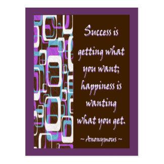 Success Is... Postcard