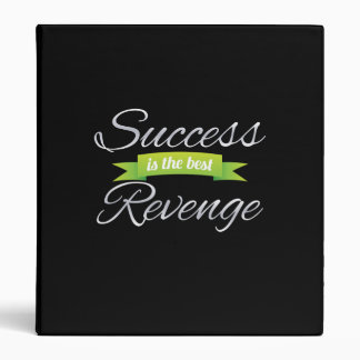 Success is the Best Revenge Green 3 Ring Binder