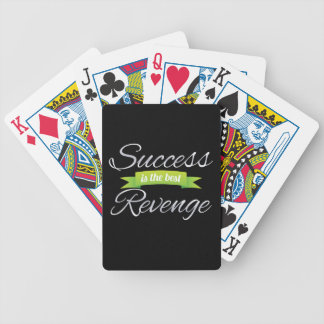 Success is the Best Revenge Green Bicycle Playing Cards