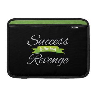 Success is the Best Revenge Green MacBook Air Sleeves