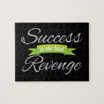 Success is the Best Revenge Green Jigsaw Puzzles