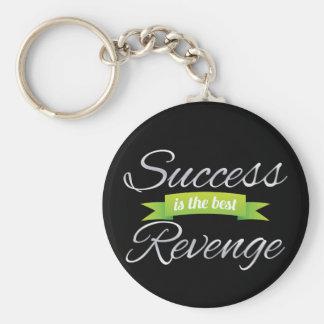 Success is the Best Revenge Green Keychain