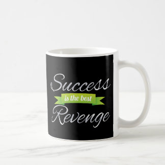 Success is the Best Revenge Green Classic White Coffee Mug
