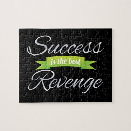 Success is the Best Revenge Green Puzzle