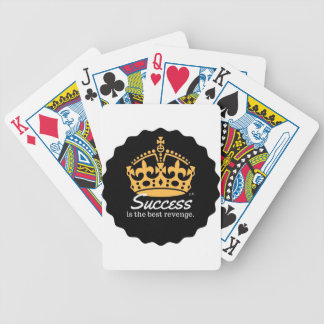 Success Is The Best Revenge Motto Bicycle Playing Cards