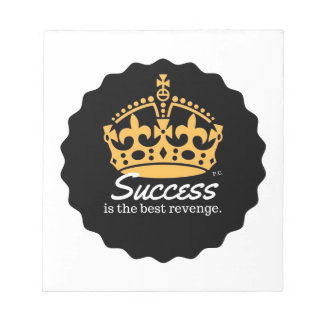 Success Is The Best Revenge Motto Notepad