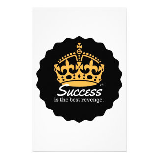 Success Is The Best Revenge Motto Stationery