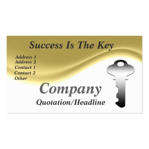 Success Is The Key Business Cards