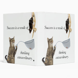 Success is the result of thinking extraordinary. 3 ring binder