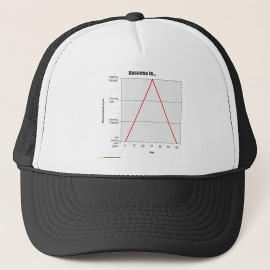 success is what you make it! trucker hat