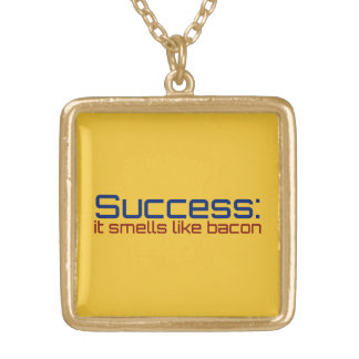 Success: It Smells Like Bacon Gold Plated Necklace