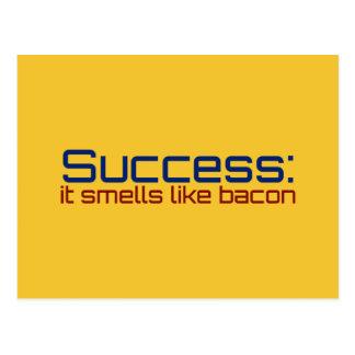 Success: It Smells Like Bacon Postcard