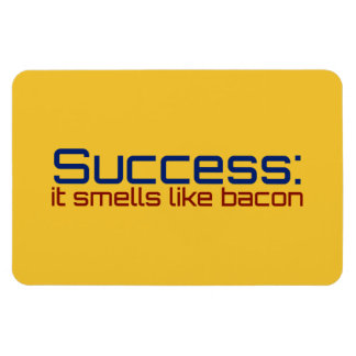 Success: It Smells Like Bacon Rectangular Photo Magnet