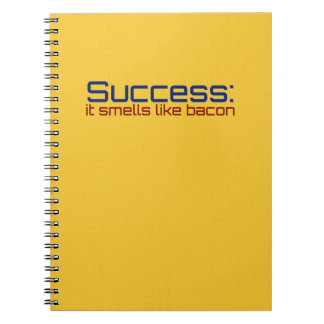 Success: It Smells Like Bacon Spiral Notebook