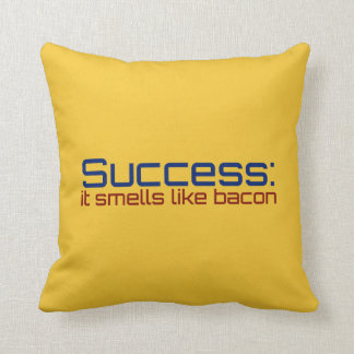Success: It Smells Like Bacon Throw Pillow