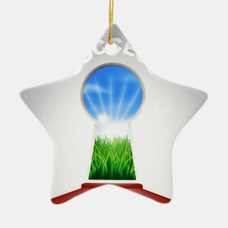 Success Keyhole Concept Ceramic Ornament