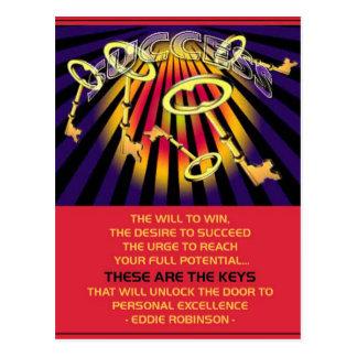 success keys postcards
