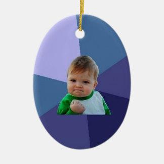 Success Kid Ceramic Ornament