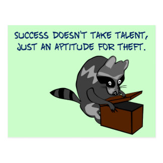Success - Making the most of someone else's talent Postcard