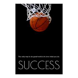 Success Motivational Basketball Trendy Stylish Poster