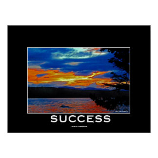 SUCCESS Motivational & Inspirational Nature Poster