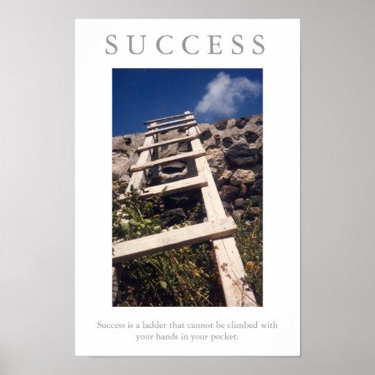 SUCCESS motivational LADDER poster print