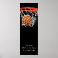 Success Motivational Quote Basketball Door Poster