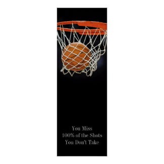 Success Motivational Quote Basketball Door Poster