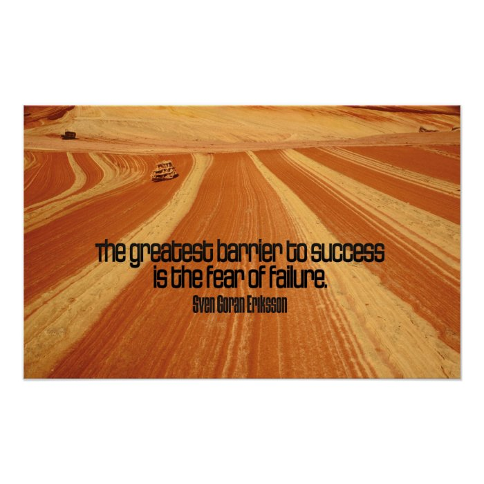 Inspirational Quotes About Failure: Success Motivational Quote Poster Print
