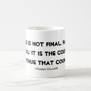 Coffee Themed Success Mug Winston Churchill quote