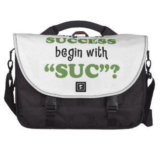 Success... or not laptop commuter bag