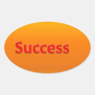 success oval sticker