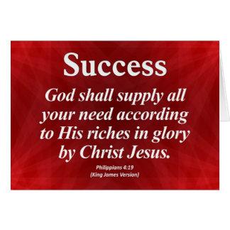 Success Philippians 4:19 Greeting Cards