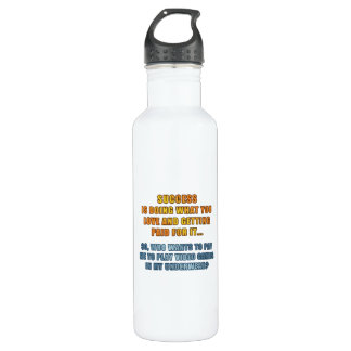 Success - Play Video Games Water Bottle