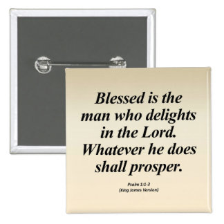 Success Psalm 1:1-3 Abbrev 2 Inch Square Button
