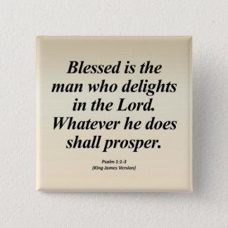 Success Psalm 1:1-3 Abbrev Pinback Button
