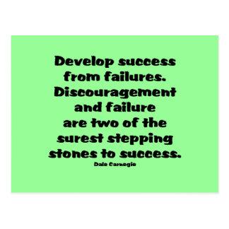 Success Quote Postcard