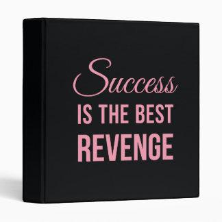 Success Revenge Inspirational Quote Black Pink Binder