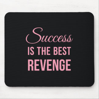 Success Revenge Inspirational Quote Black Pink Mouse Pad